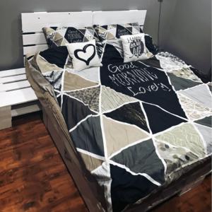 Łóżko z palet z szufladą