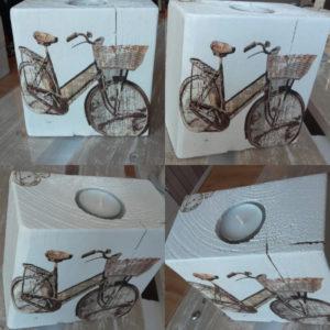 Świecznik motyw roweru